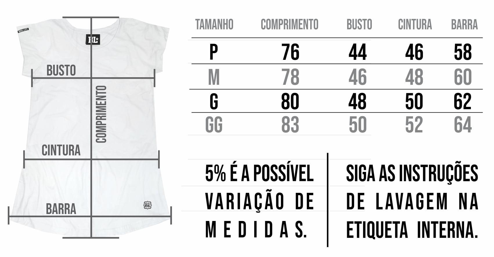 Camiseta Long Feminina