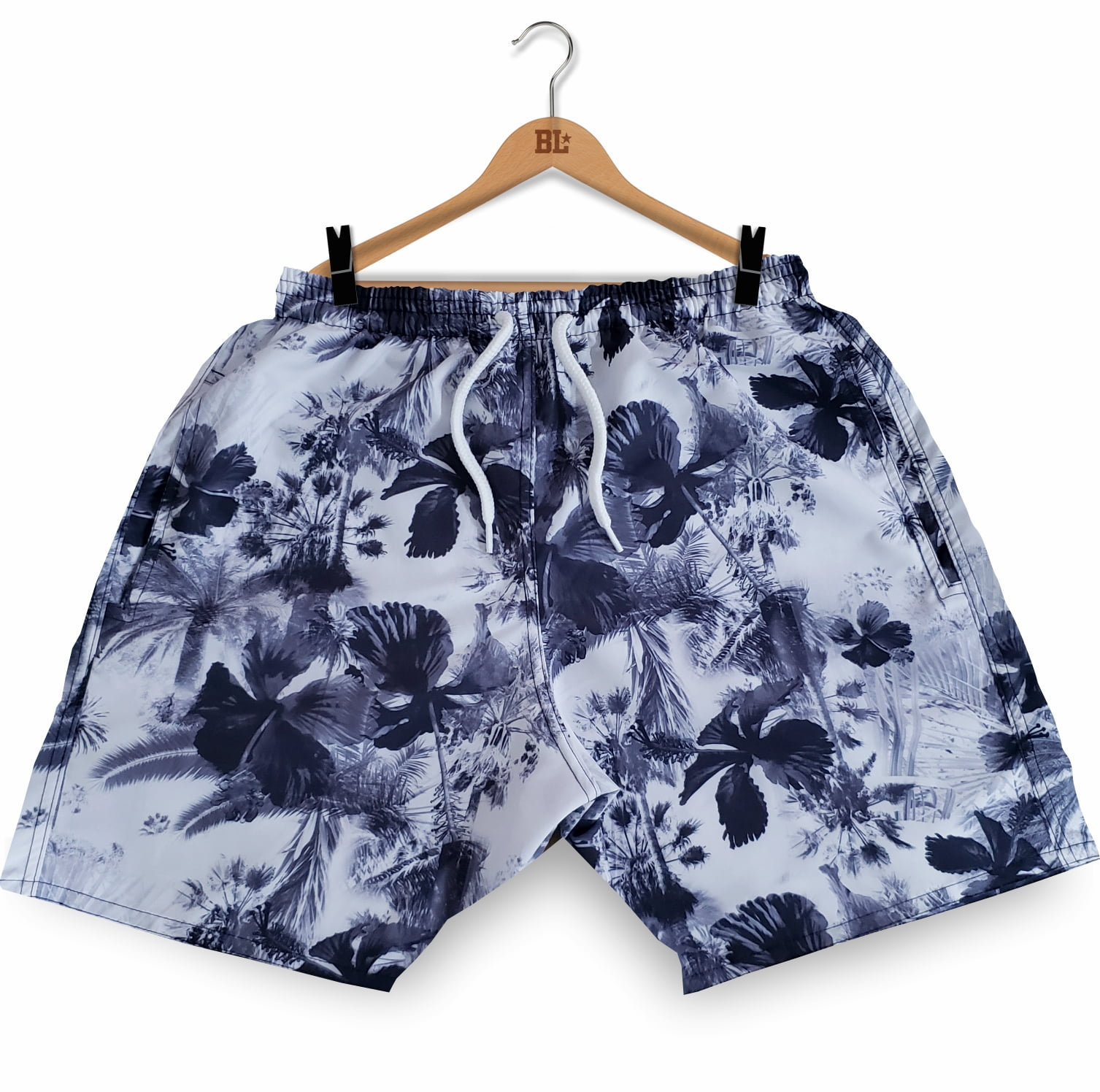 Swim Short Floral BK BM2017