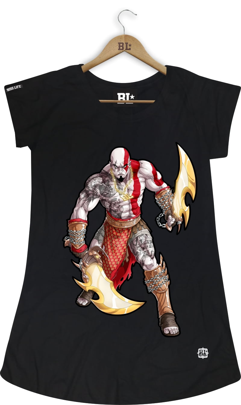 CAMISETA FEMININA LONG KRATOS