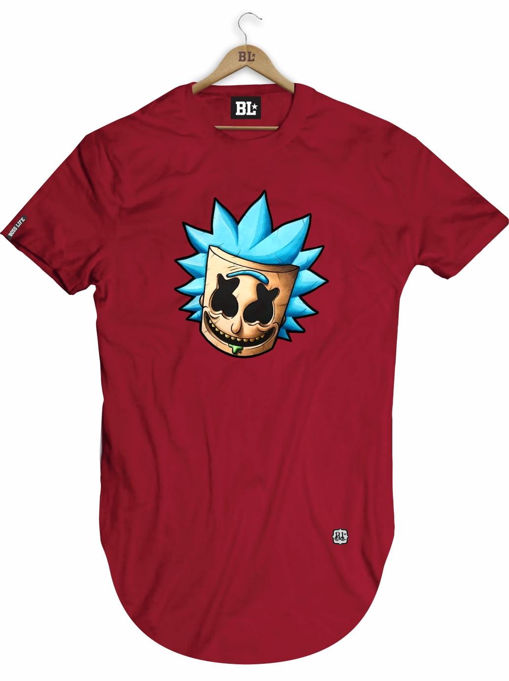 Camiseta Longline Rick Face
