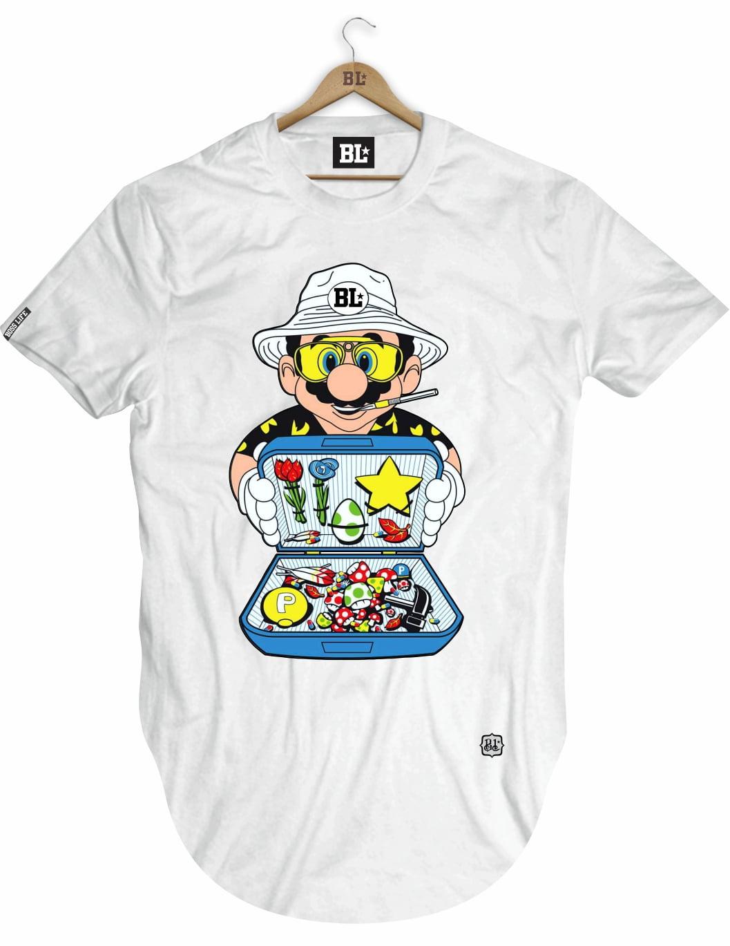 Camiseta longline Mario Boss