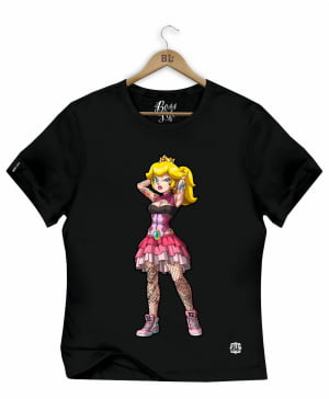 CAMISETA BABY LOOK PRINCESA PEACH