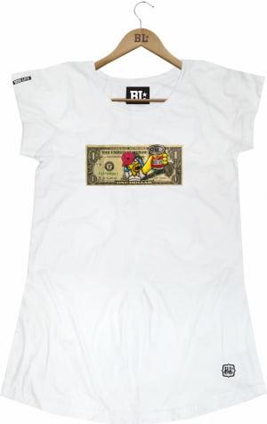 Camiseta Feminina Long Dollar Hommer