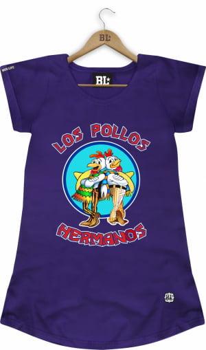 Camiseta Feminina Long Los Pollos