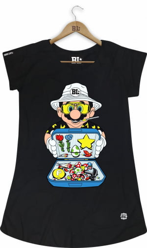 Camiseta Feminina Long Mario Boss
