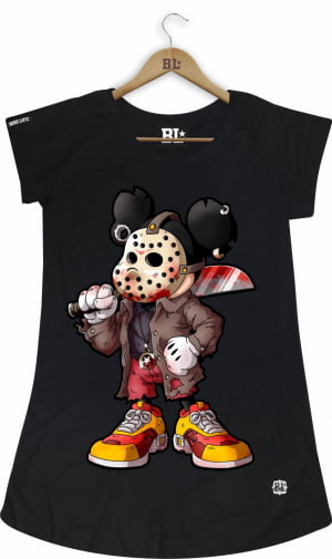 CAMISETA FEMININA LONG MICKEY JASON
