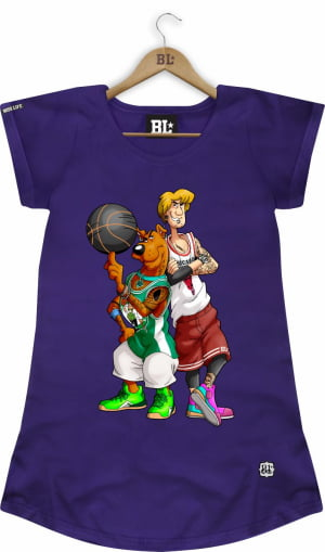CAMISETA FEMININA LONG SCOOBY