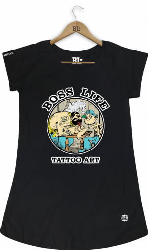 Camiseta Feminina Long Tattoo
