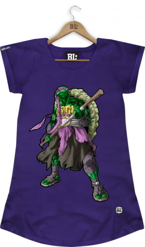 CAMISETA FEMININA LONG DONATELLO