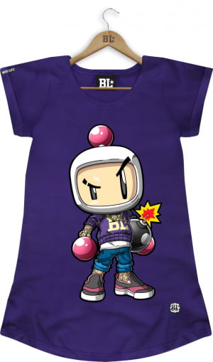 CAMISETA LONG FEMININA BOMBERMAN