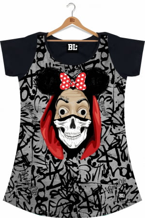 Camiseta Feminina Long La Minnie CF1007