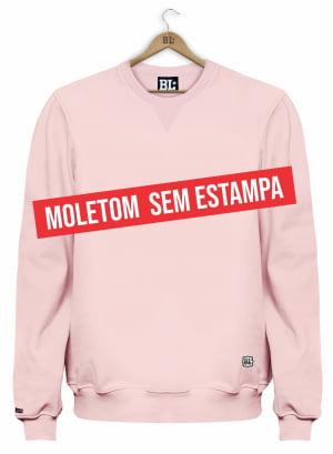 BLUSÃO MOLETOM LISO ROSA