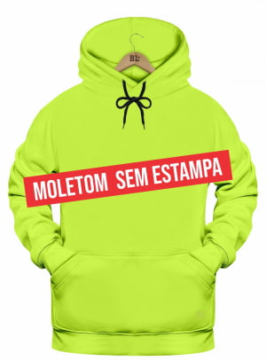 Canguru Moletom Astronauta Liso Verde Neon