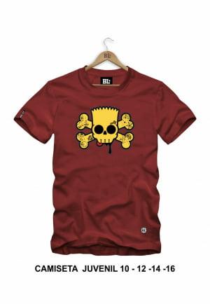 Camiseta Juvenil Bart Skull