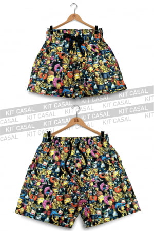 Swim Short Kit Casal Simpsons
