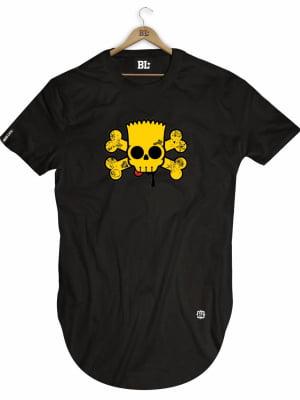 Camiseta Longline Barth Skull
