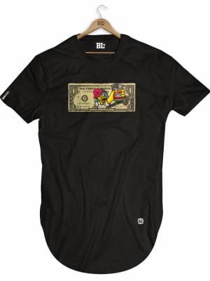 Camiseta Longline Dollar Hommer