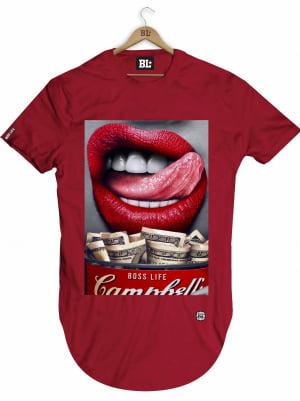 Camiseta Longline Lips