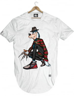 Camiseta Longline Pateta Krueger